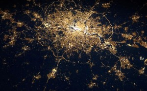 The lights of London, by astronaut Andre Kuipers